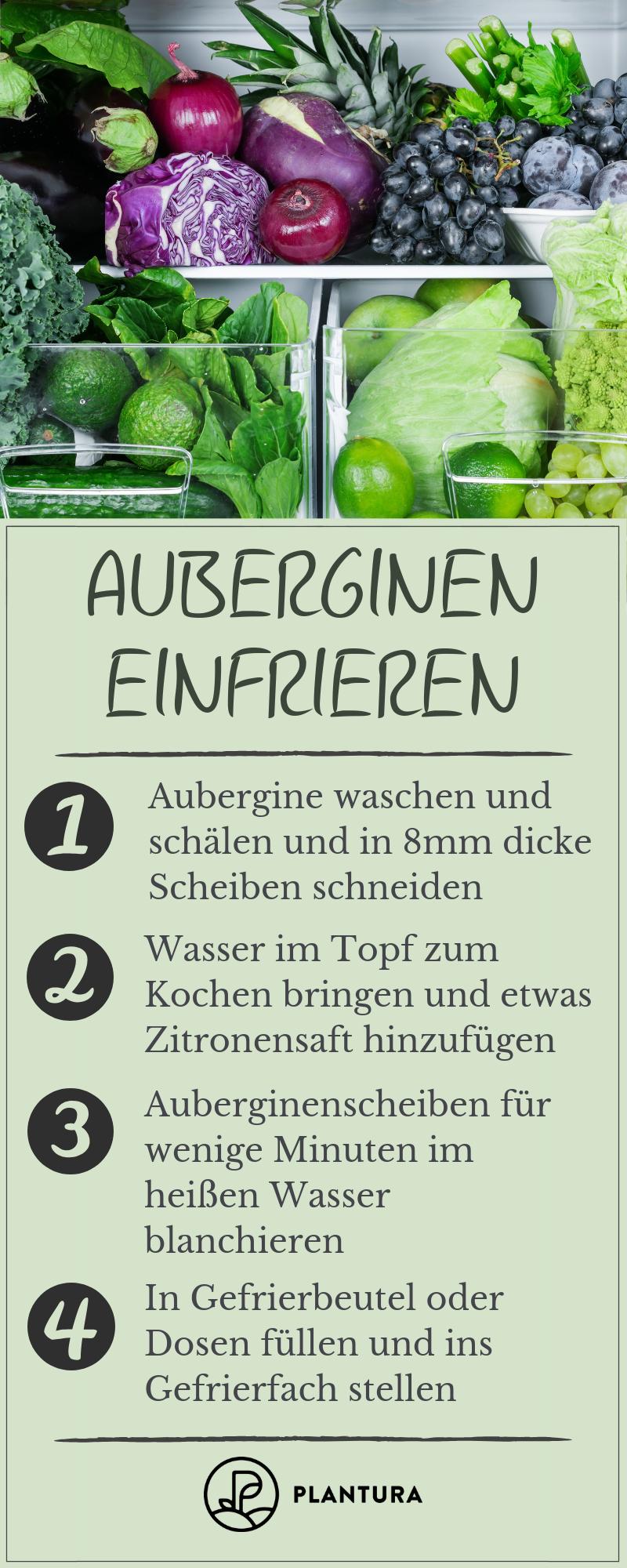 aubergine einfrieren
