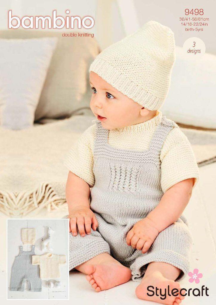 Stylecraft Bambino DK Pattern 9498 - T-shirt, Dungarees ...