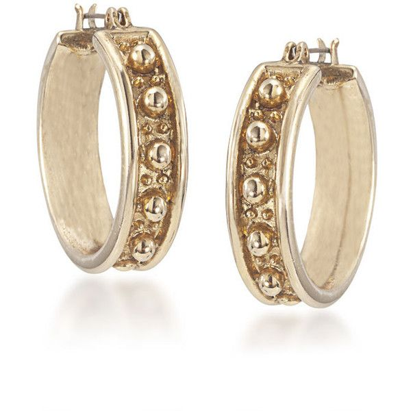 Earrings | 40th Anniversary Style Hoop Pierced | Carolee.com ($45) ❤ liked on Polyvore