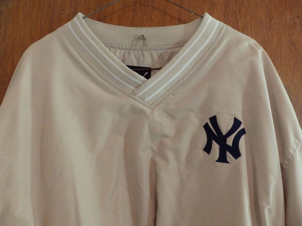Yankees Puma Solid Tan Vintage Pull L Jacket Windbreaker Over Mint A5xwSdaq