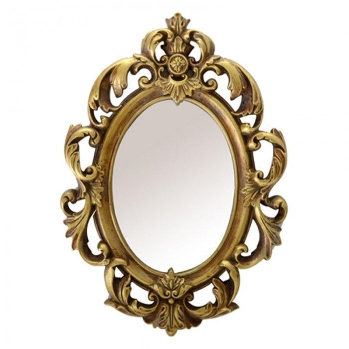 Espejo cl sico barroco vintage ovalado oro nuryba decor frames pinterest - Marcos para cuadros grandes ...