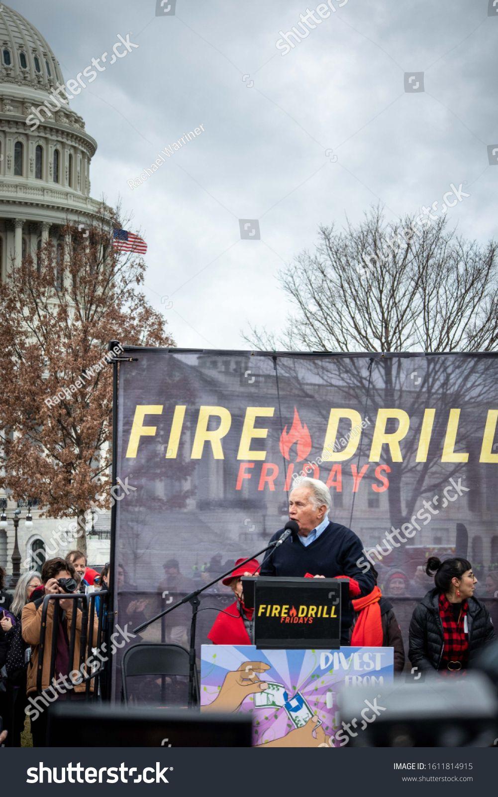 Washington Dc U002f Usa January 10 2020 Celebrities Join Hundreds Of Protesters At Jane Fonda S Final Fire Drill Spo Photo Editing Stock Photos Fire Drill
