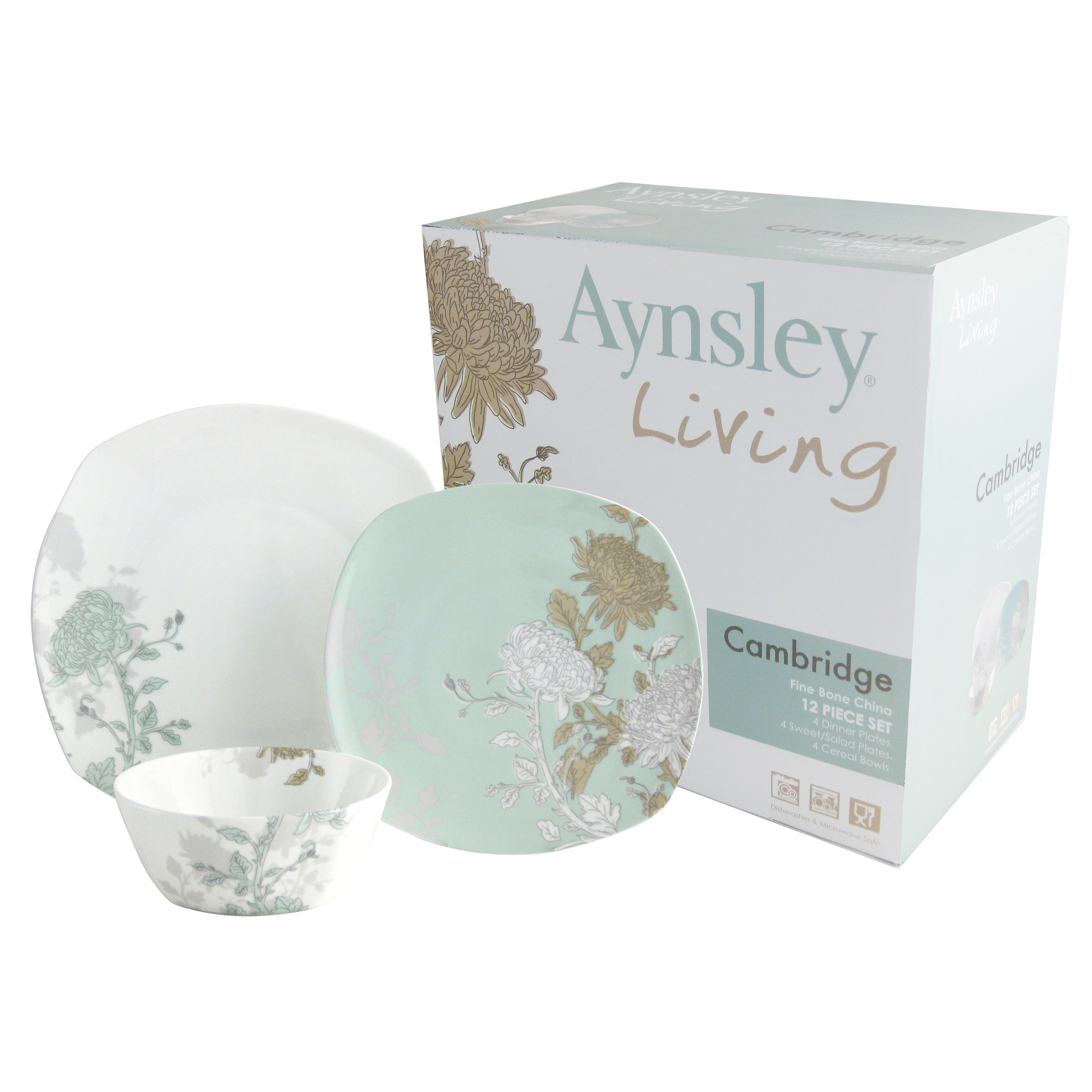 Aynsley China Cambridge 12 Piece Porcelain Dinnerware Set  sc 1 st  Pinterest : porcelain dinnerware sets for 12 - pezcame.com