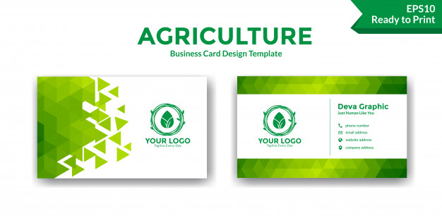 Agriculture Business Card Templates Free Download Free Business Card Templates Business Card Template Design Green Business Card Design