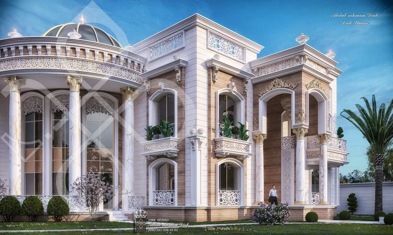New Classic Palace Ksa Diebstudio Classic House Design House Outside Design Modern Exterior House Designs