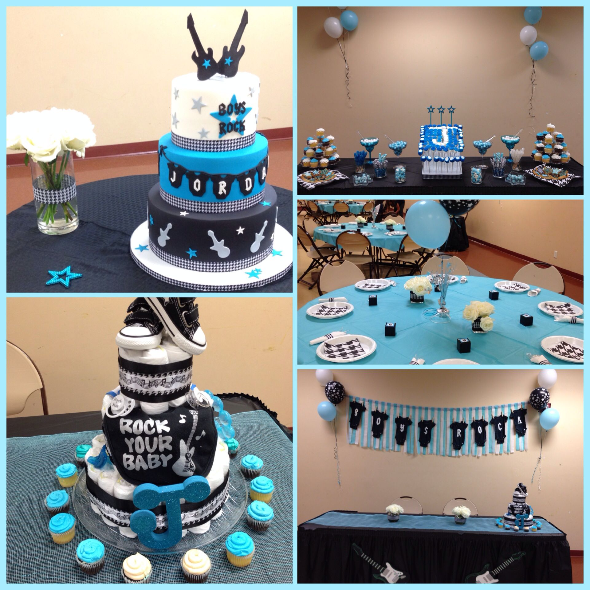 Rock A Bye Baby A Great Baby Shower Theme Blue White Black