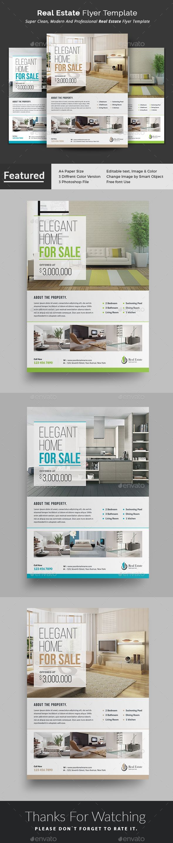 Real Estate #Flyer - #Commerce Flyers This Real Estate Flyer ...