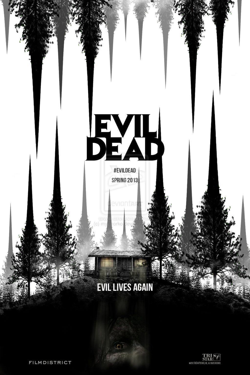evil_dead_2013_by_myrmorko-d5jbqp4+black+and+white+poster+trees+evil+lives+again.jpg 1,024×1,536 pixels
