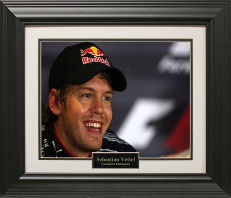 Sebastian Vettel Signed Photo Poster Autographed Print Ferrari Memorabilia