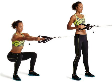 1. Cable squat to row | Cable workout, Cable machine workout, Back ...