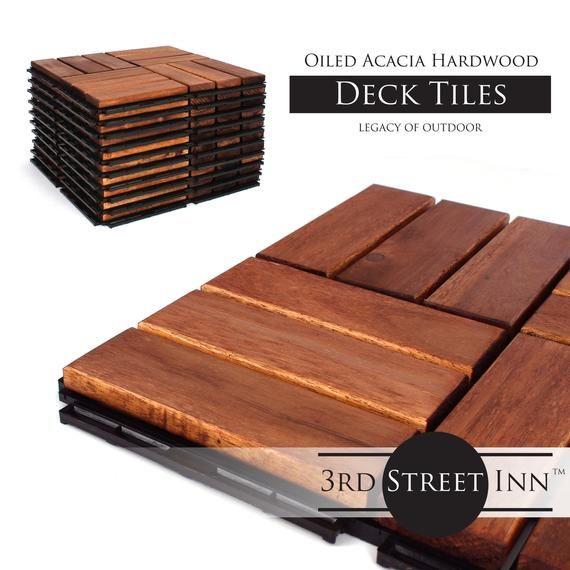 Deck Tiles Patio Pavers Acacia Wood Outdoor Flooring