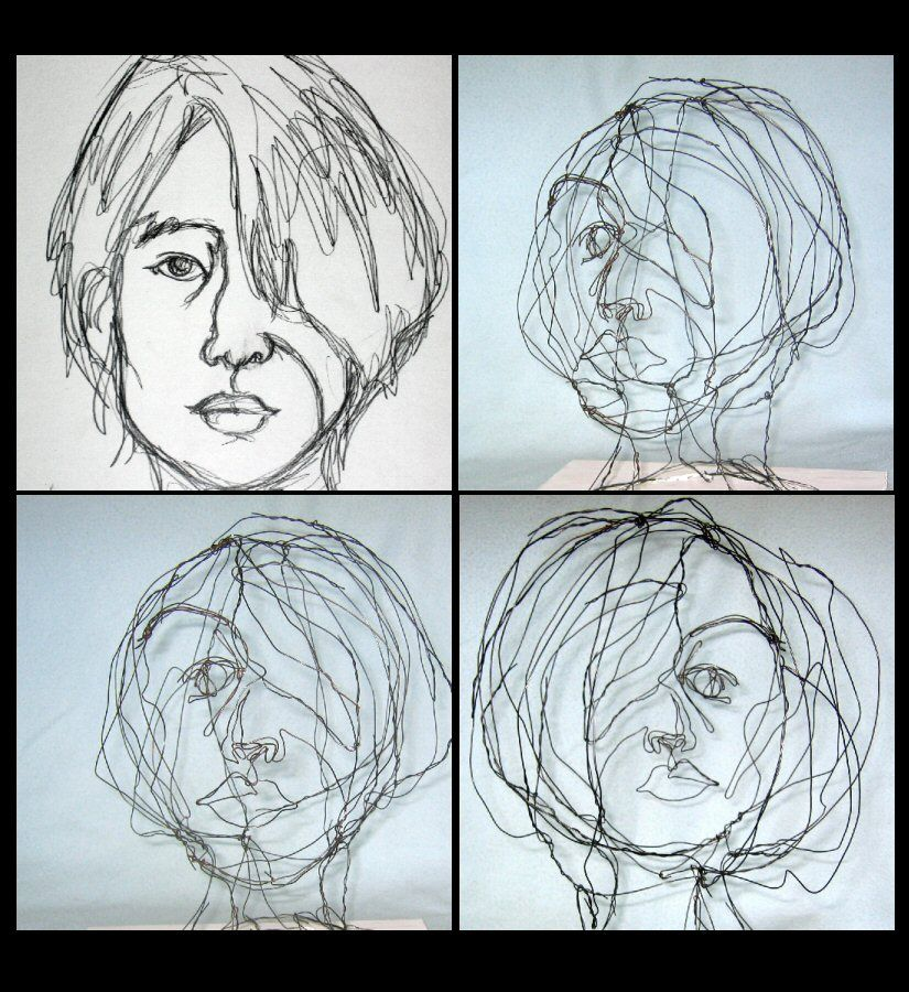 wire sculpture by chioni | drawing | Pinterest | 3d art projects ...