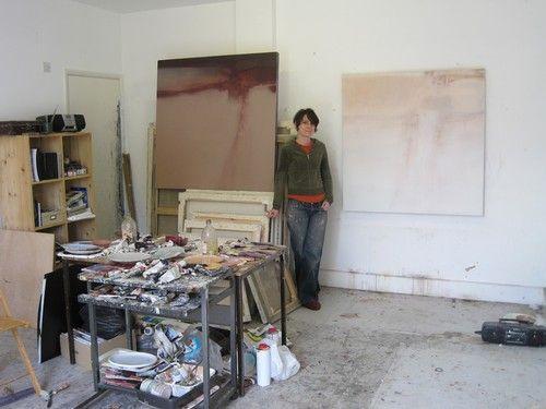 Claire Wilson in the studio