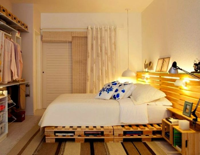 Camas con palets, 24 modelos increíbles y creativos Cama con - camas con tarimas