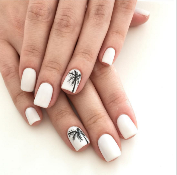Get Your Nails Beach Ready With These 20 Vacation Inspired Manicures Vacation Nails Trendy Nails Broken Nails