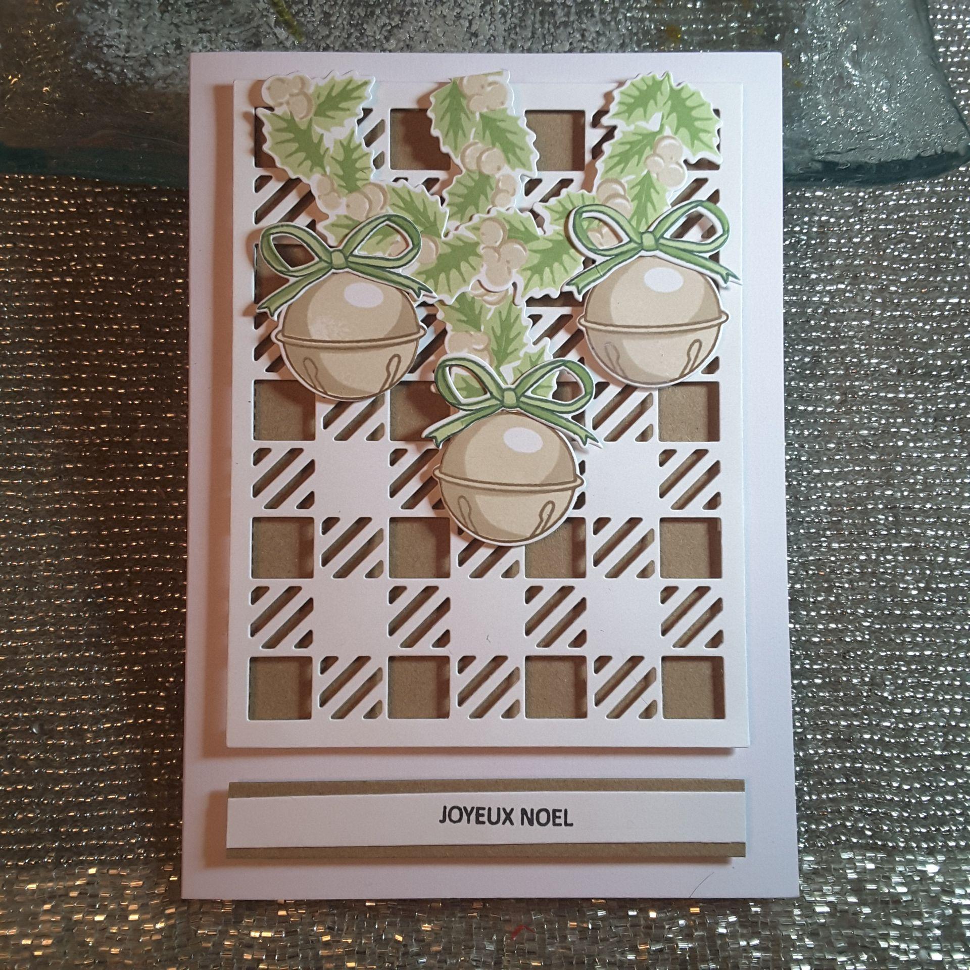 Wreath and bells SU Buffalo Check BG Pinterest