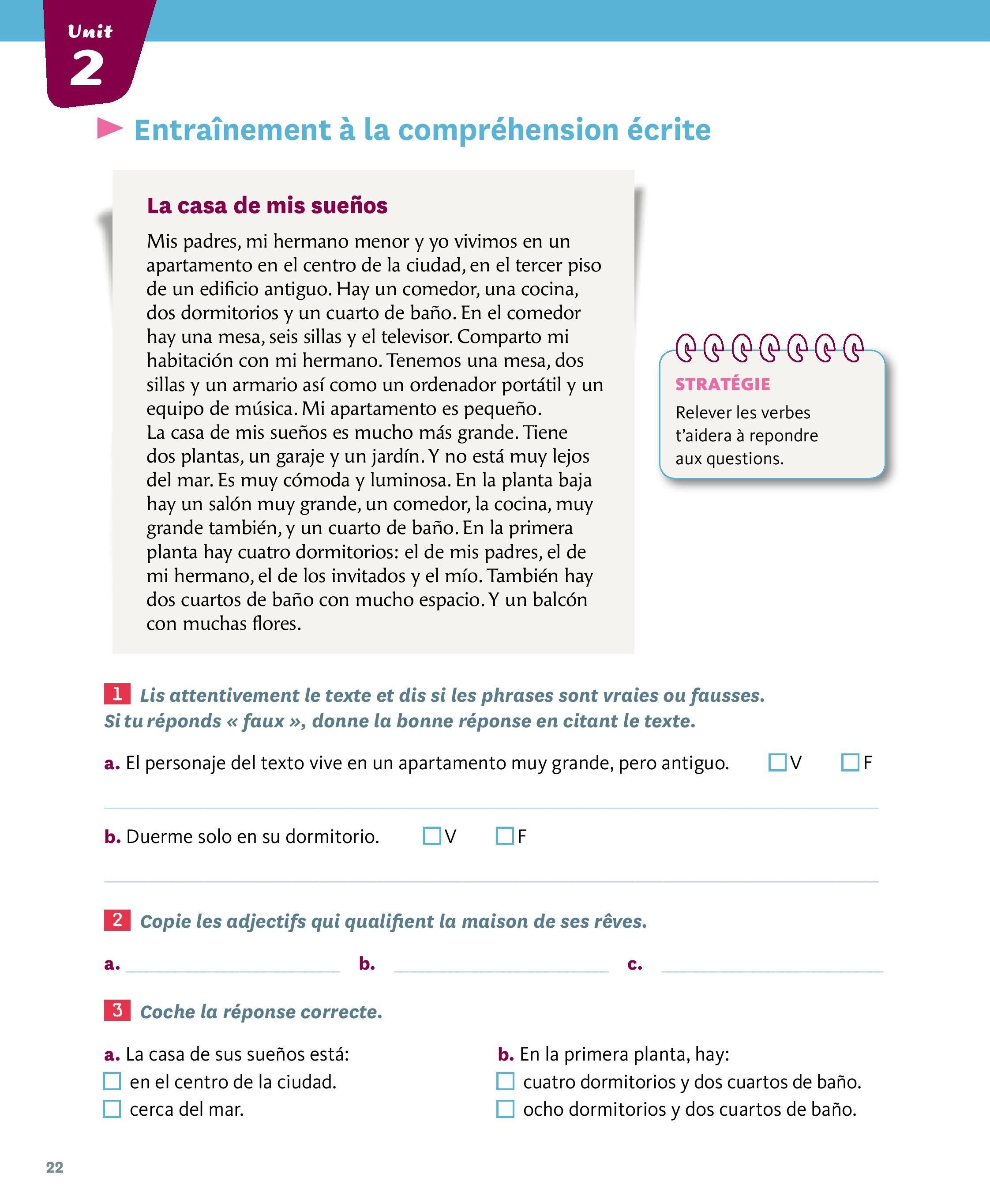 La Casa De Mis Suenos Vocabulaire Espagnol Lecon Espagnol Cours Espagnol
