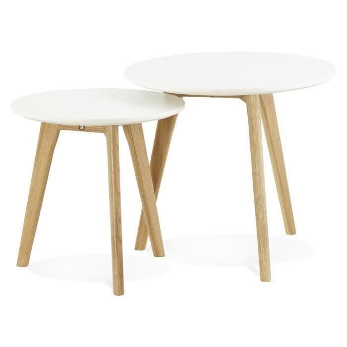 Tables Gigognes Ronde Gaby Style Scandinave Tables Gigognes Table Basse Table Basse Design