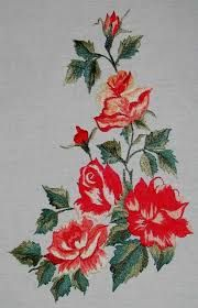 Resultado de imagen para flores bordados en lana