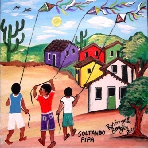 Rosangela Borges Com Imagens Arte Naif Arte Colorida Arte