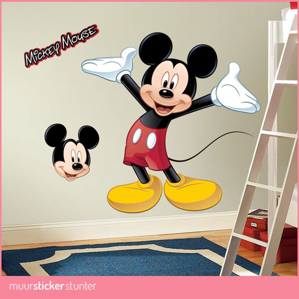 Muurdecoratie Kinderkamer Disney.Mickey Mouse Muursticker In 2019 Mickey Mouse Kamer