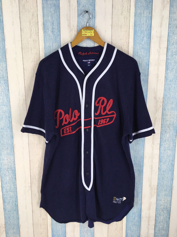 Baseball Vintage Large Lauren 1990's Ralph Shirt Sport Polo 2IWH9YED