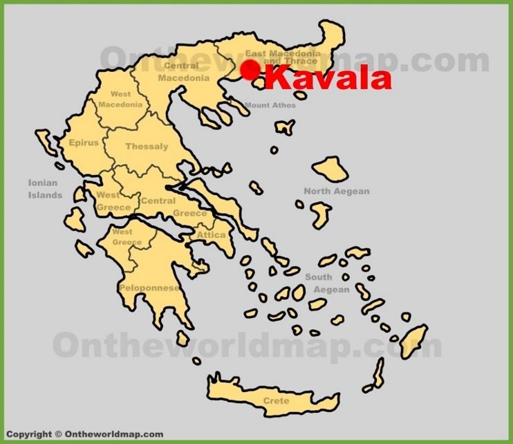 Kavala Location On The Greece Map Maps Pinterest City - Greece location