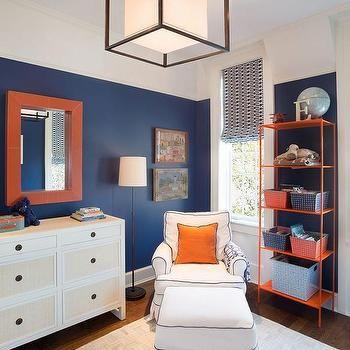 Navy And Orange Boys Bedrooms Contemporary Boy S Room Bedroom