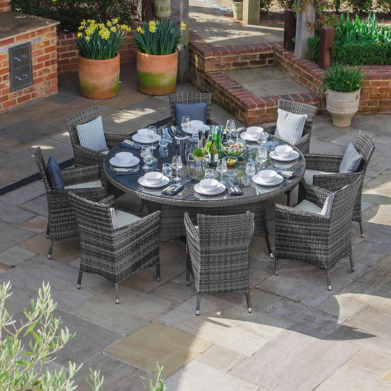 nova  amelia 8 seat rattan dining set  15m round table