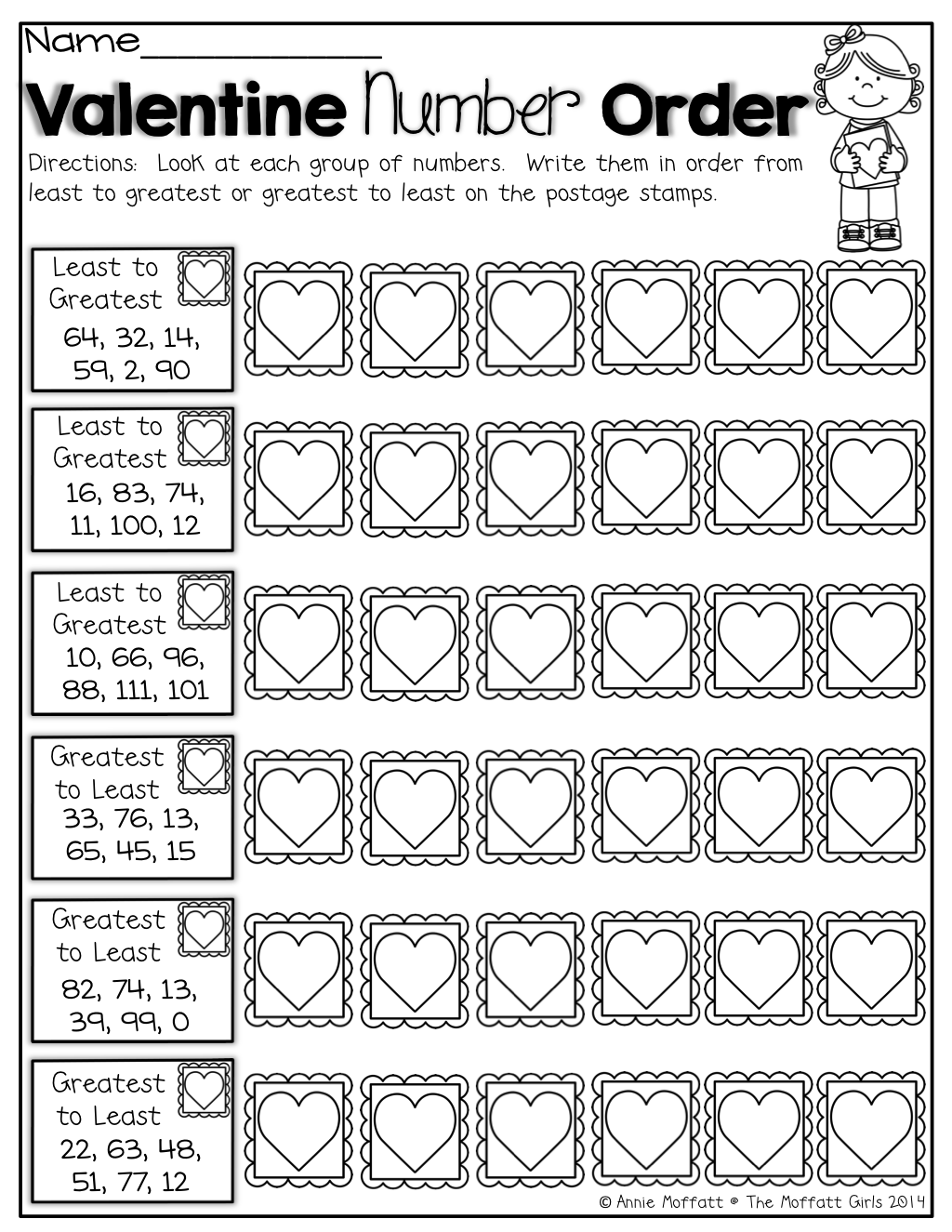 February NO PREP Packet (1st Grade)   Kindergarten valentines [ 1325 x 1024 Pixel ]