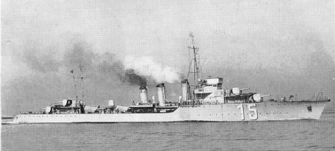 French destroyer Ouragan class