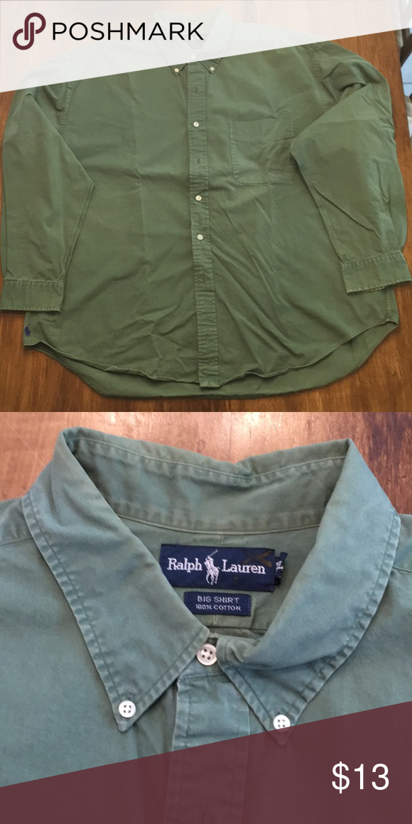 f6bbfa30a3a7c Ralph Lauren Button Down Un tuck it style - Loose fit Like Brand New -  Lightly used Olive Green Polo by Ralph Lauren Shirts Casual Button Down  Shirts