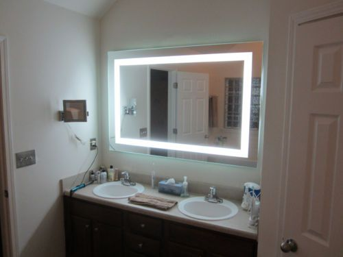 Front Lighted Led Bathroom Vanity Mirror 60 X 40 Rectangular