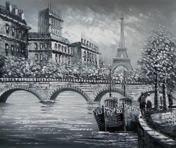 Famous Black And White Landscape Paintings Paris