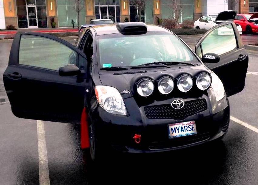 Tag Rally Sport Yaris with light pod Yaris,