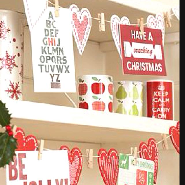 I think this would be better with stars or snowflake cutouts instead of hearts for Christmas, but its a cute idea!