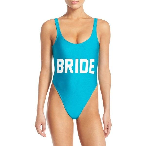 Private Party \'Bride\' One-Piece Swimsuit ($99) ❤ liked on ...