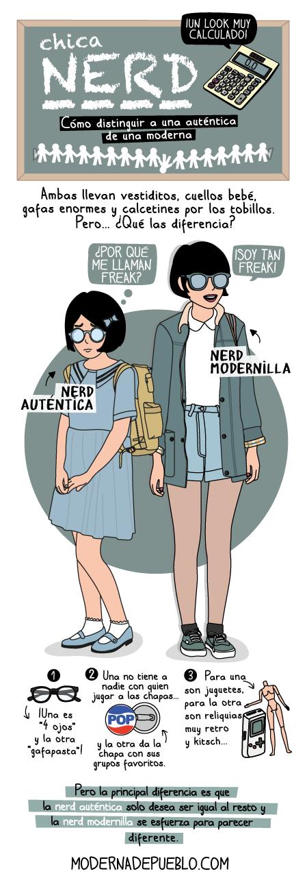Chica Nerd: cómo distinguir a una auténtica de una moderna.