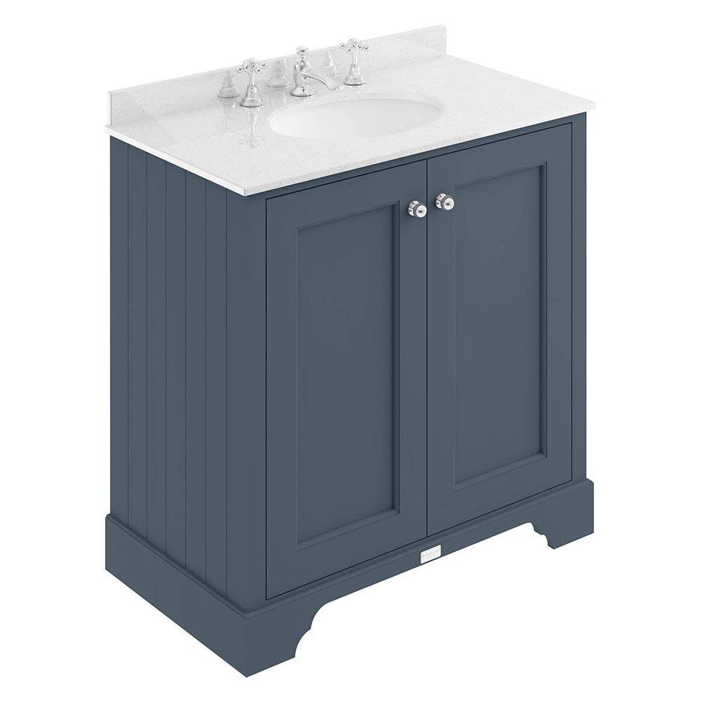 Best Bayswater Stiffkey Blue 800Mm 2 Door Basin Cabinet 400 x 300