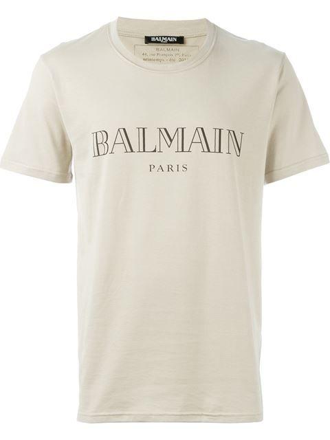 f9eb3c7f BALMAIN Logo T-Shirt. #balmain #cloth #t-shirt   Balmain Men ...