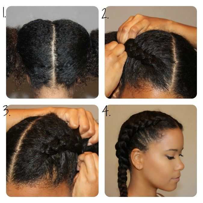 Date Night Diy Chunky French Braid Out The Layer Hair Styles Natural Hair Styles Curly Hair Styles