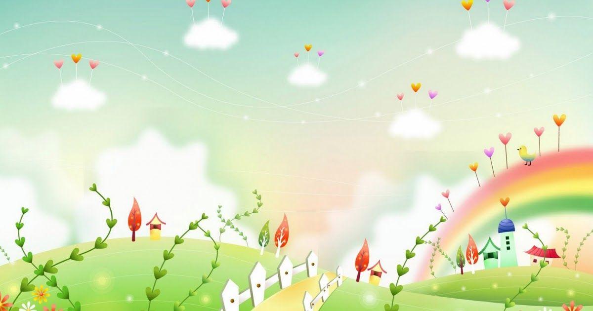 Pemandangan Kartun Lucu Background Kartun Hd Free Download Gambar Dunia Kartun Fantasi Yang Cantik Cantik Download Download Gam Di 2020 Pemandangan Kartun Gambar