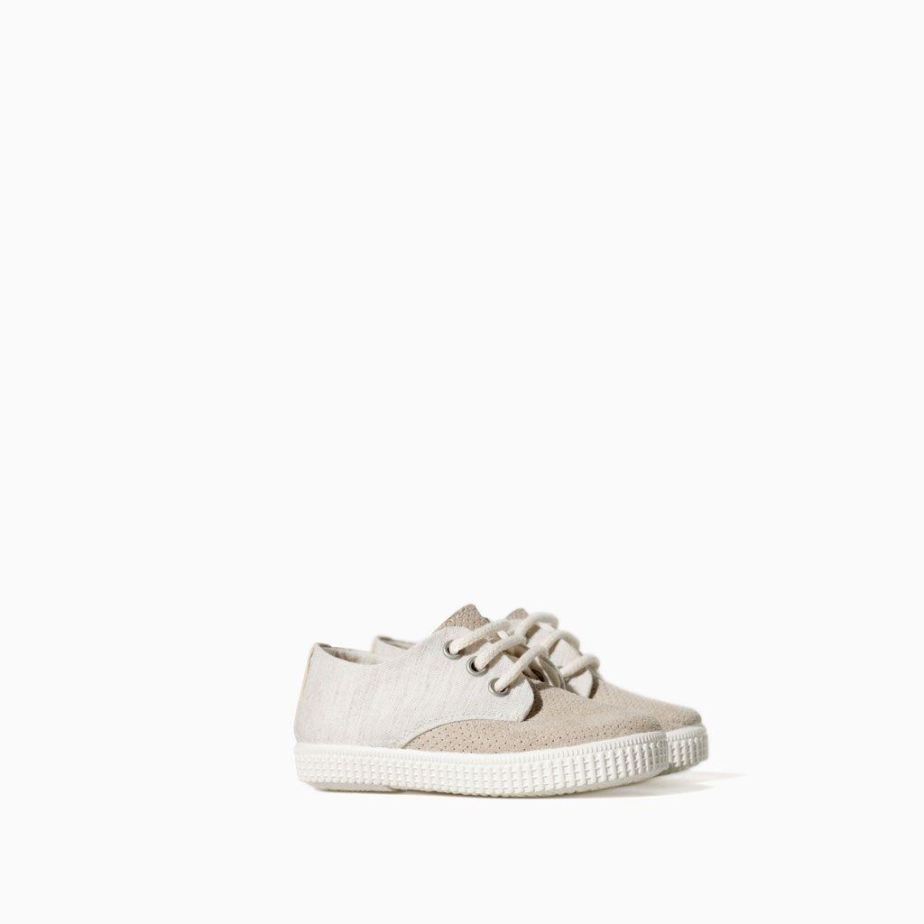 0fa922703b3a Combined leather KIDS Zapatos plimsoll soft Niños ZARA qSR7x5w7