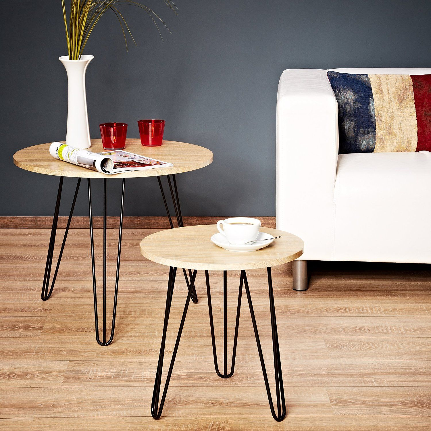 Pied De Table Basse Scandinave Lomos No 14 Set De Tables Basses En Look Rétro Scandinave
