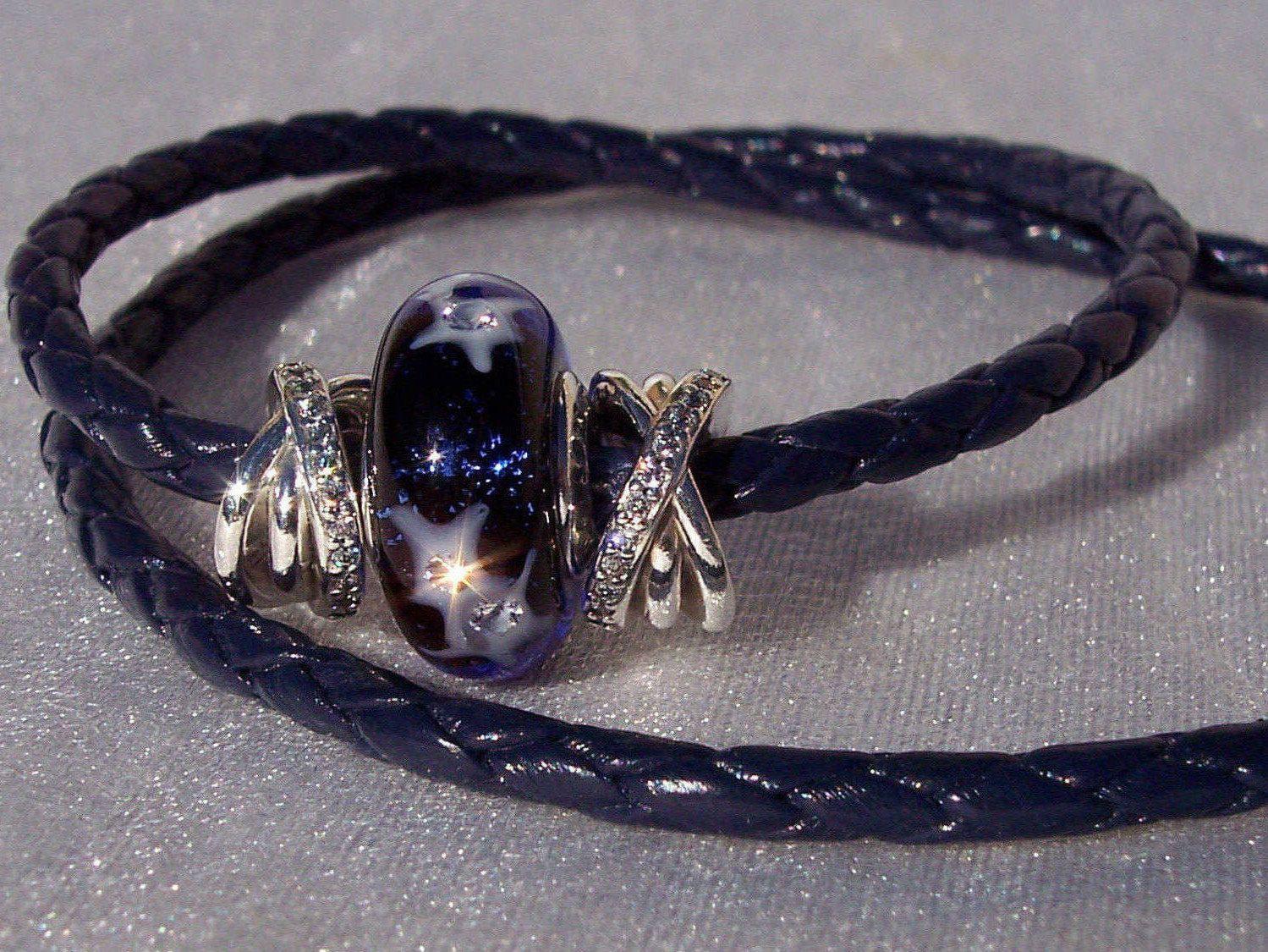 b4cdf2c79 ... canada pandora starry night sky galaxy bracelet set double leather  spacers c8b43 e770e