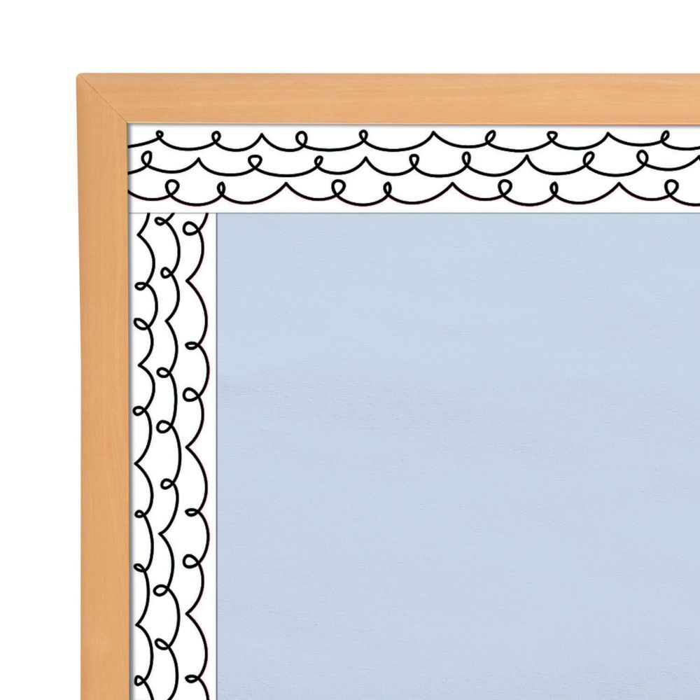 Loop De Loop Bulletin Board Borders Black In 2020 Bulletin Board Borders Bulletin Boards Classroom Decor