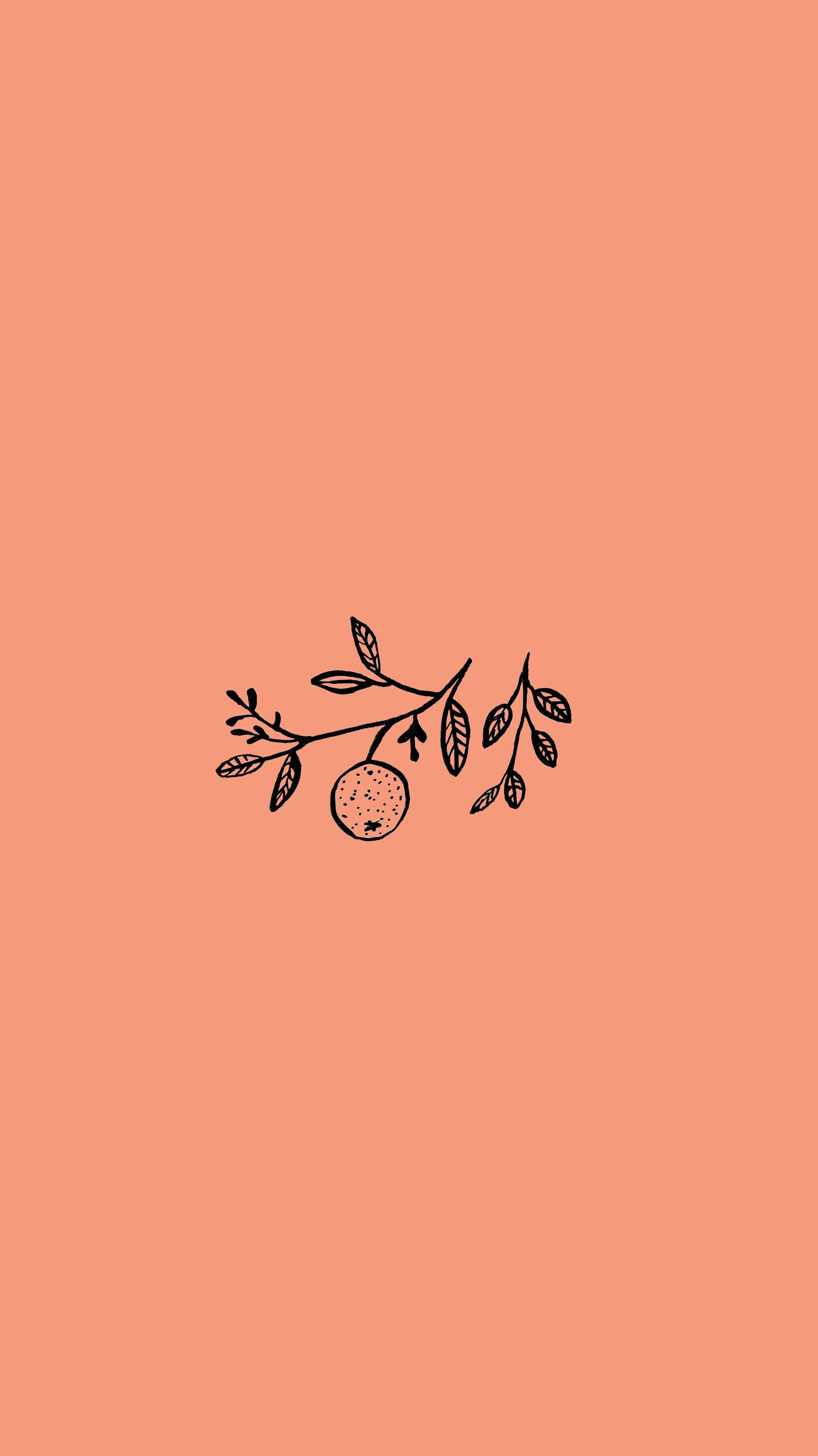 ORANGE // BACKGROUND Orange background, Aesthetic iphone