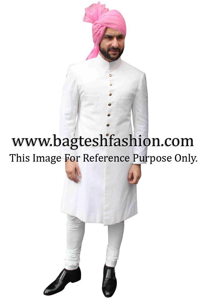 Saif Ali Khan In White Sherwani