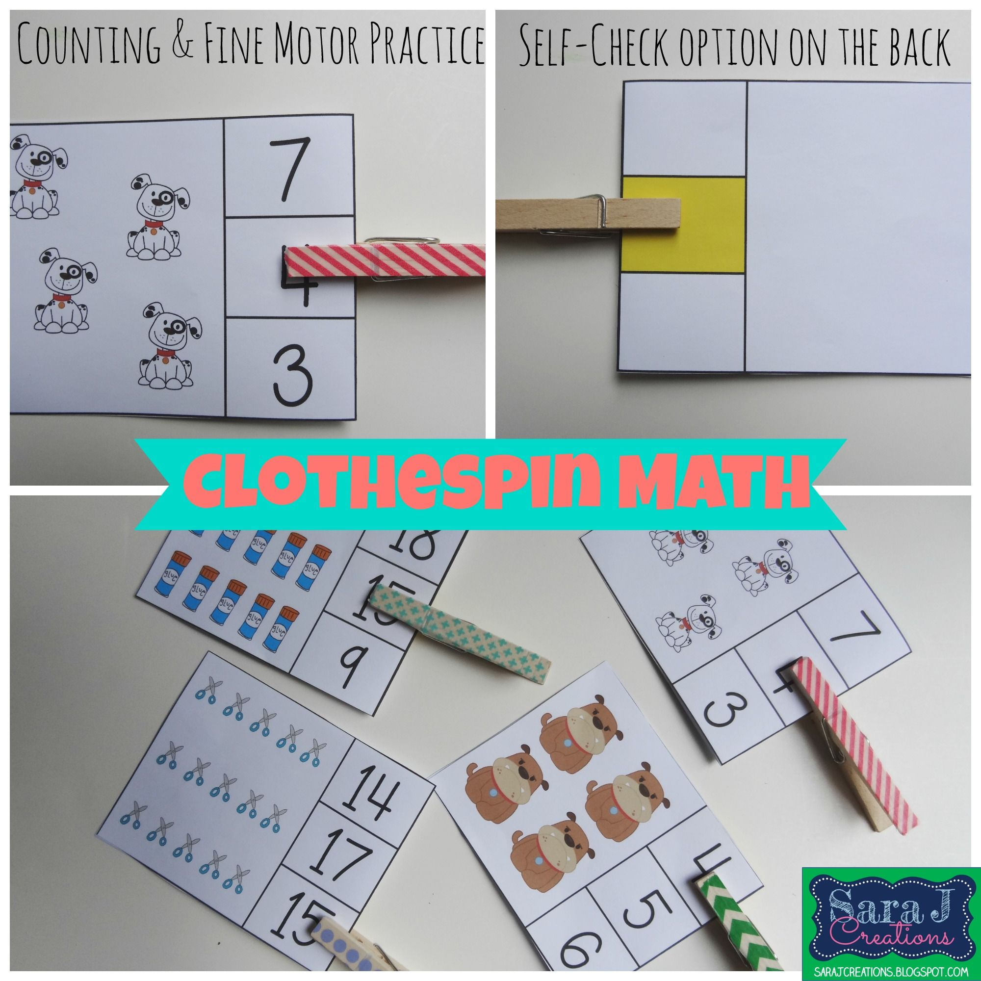 Counting Clip Cards | Picture cards, Multiple choice and Motor skills