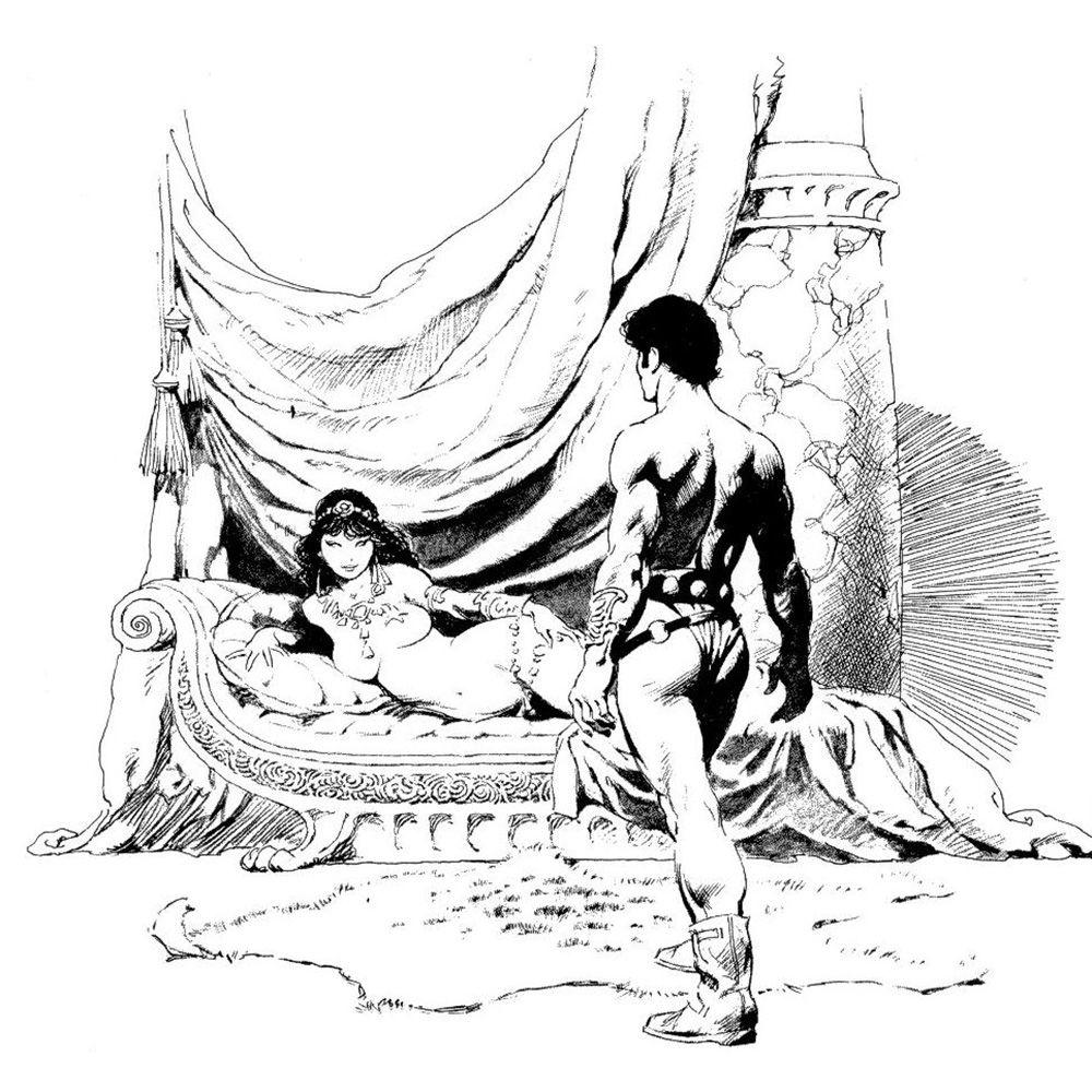 Frank Frazetta - Sketch - John Carter (1974)